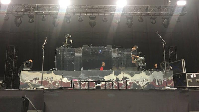 The xxの幕張メッセ公演、ジェイミーXXのミキサー卓