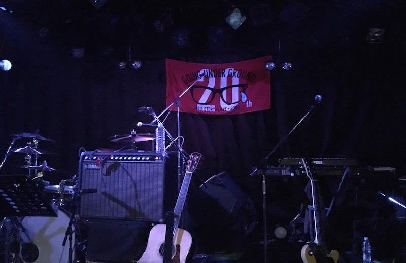 GOING UNDER GROUNDの『GUG 20th ANNIVERSARY ICE CREAM TOUR』下北沢CLUB Que公演ステージ