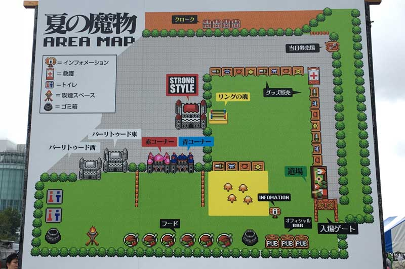 夏の魔物2018 in TOKYO at お台場野外特設会場J地区 会場マップ