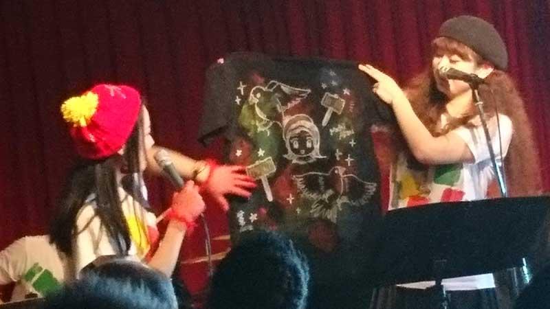 町あかり&池尻ジャンクション・ワンマンツアー「電球を替えてくれた人」の初日、渋谷7th floorで売ってたTシャツ