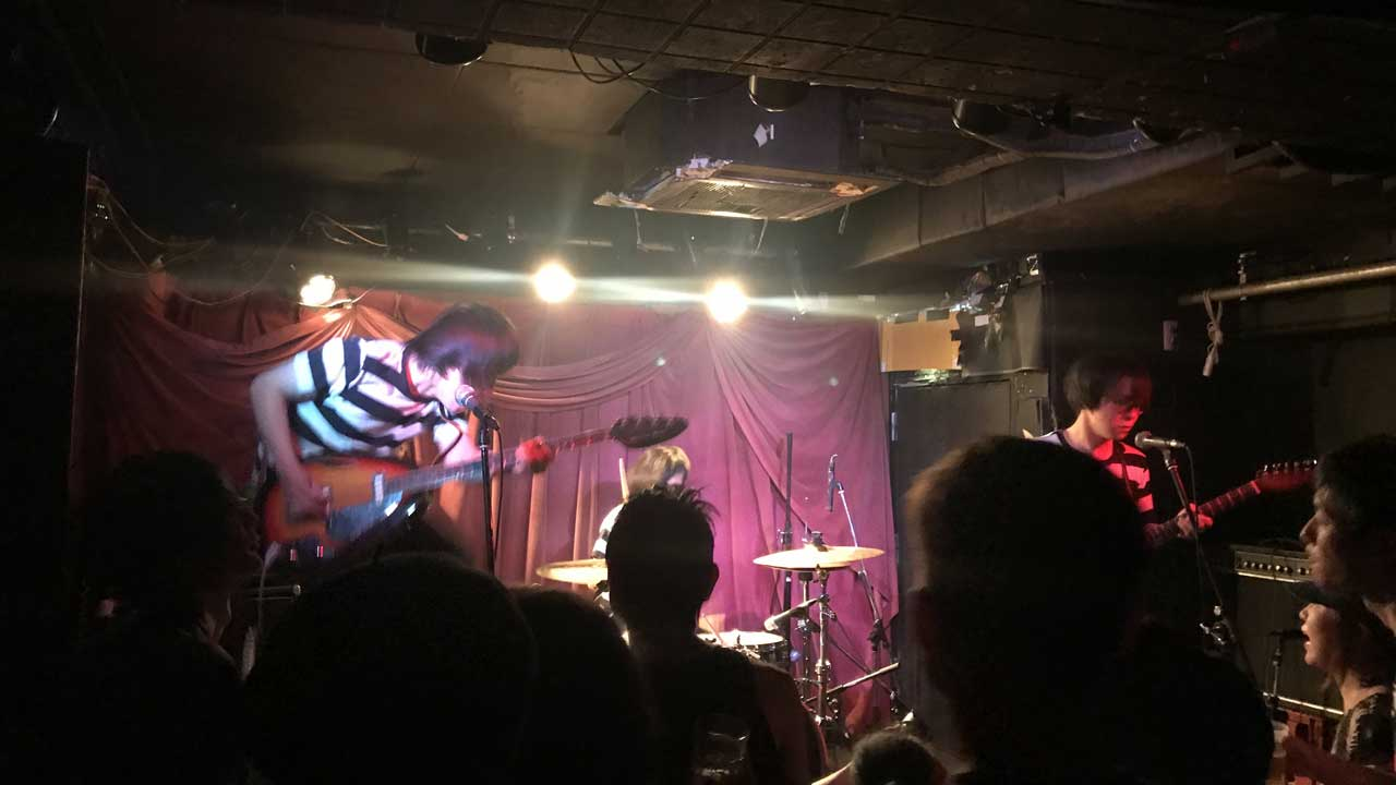 terry and louieの来日ツアー、幡ヶ谷Club Heavy Sick公演の前座のThe Fadeaways