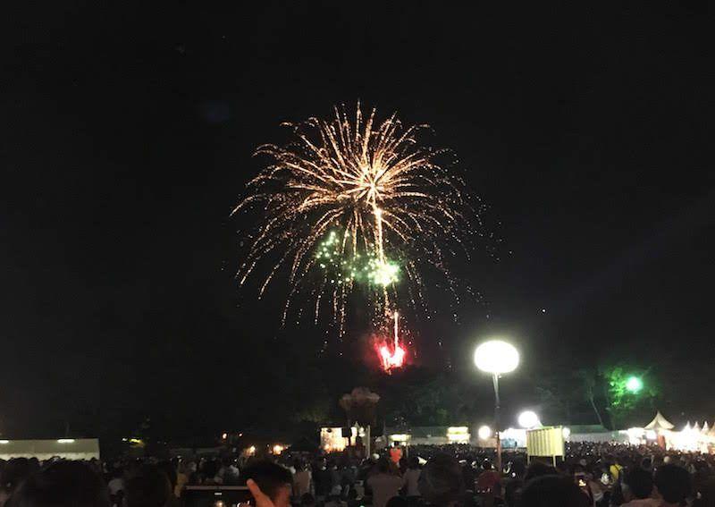 フジロック2018、前夜祭の花火