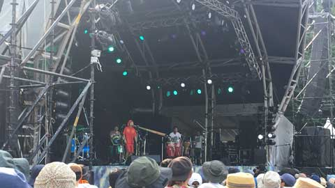 フジロック2018・初日。goma and the jungle rhythm section