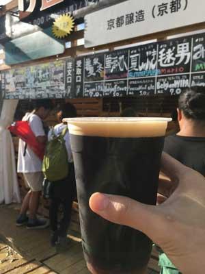 フジロック2018・3日目。クラフトビール 黒潮の如く