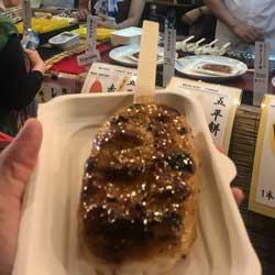 フジロック2019、初日オアシスエリアで五平餅を食べた