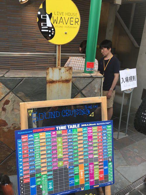 Shimokitazawa SOUND CRUISING 2018、下北沢WAVER
